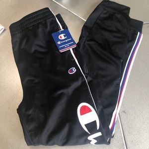 NWT CHAMPION- black joggers /sweats /large